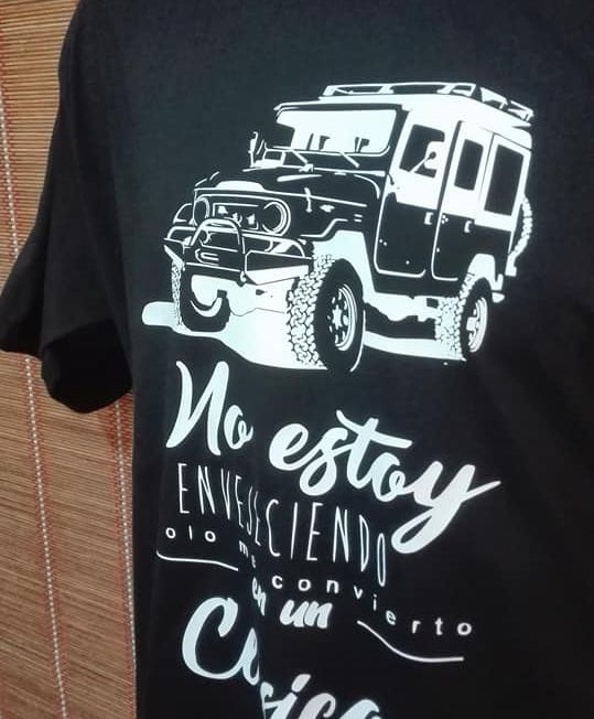 Camiseta land cruiser 4x4